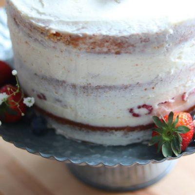 Vanilla Naked Cake Challenge sockbox10.com